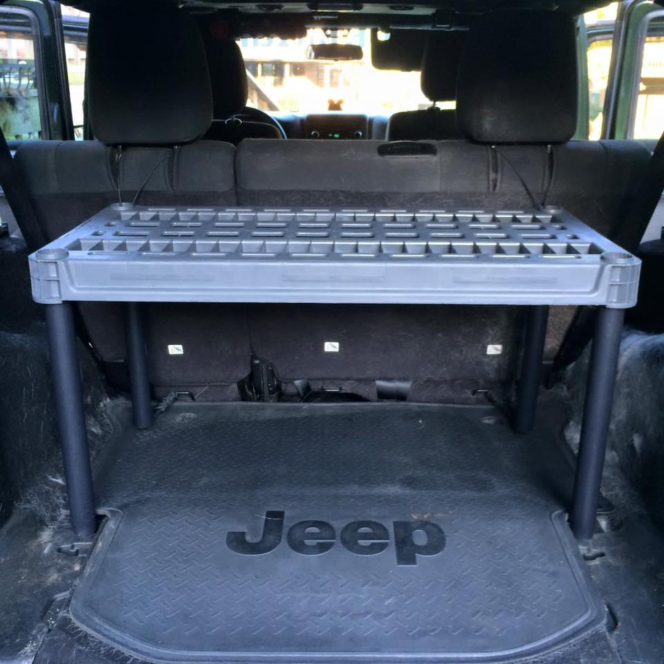 Bug Out Jeep DIY Storage