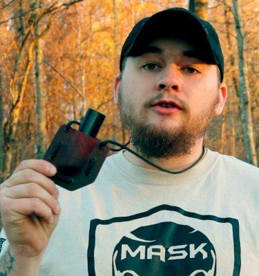 Kydex neck lighter holster