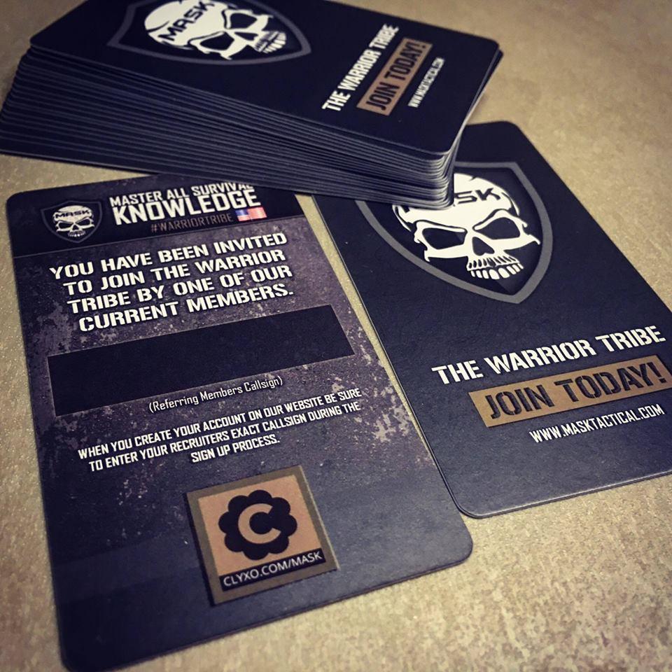 Warrior tribe recruitment rewards program mask tactical customized recruiting cards magicingreecefo Gallery